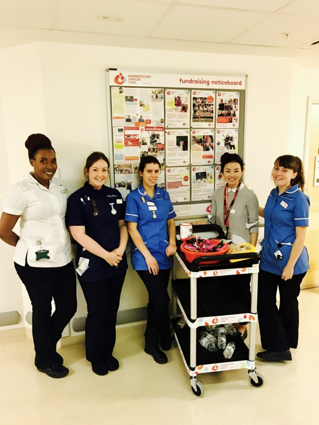 Ward staff with the simply yummy snack trolley