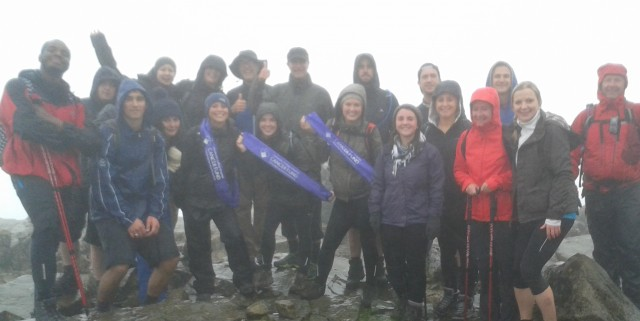 Amplifi employees at the Three Peaks fundraising challenge